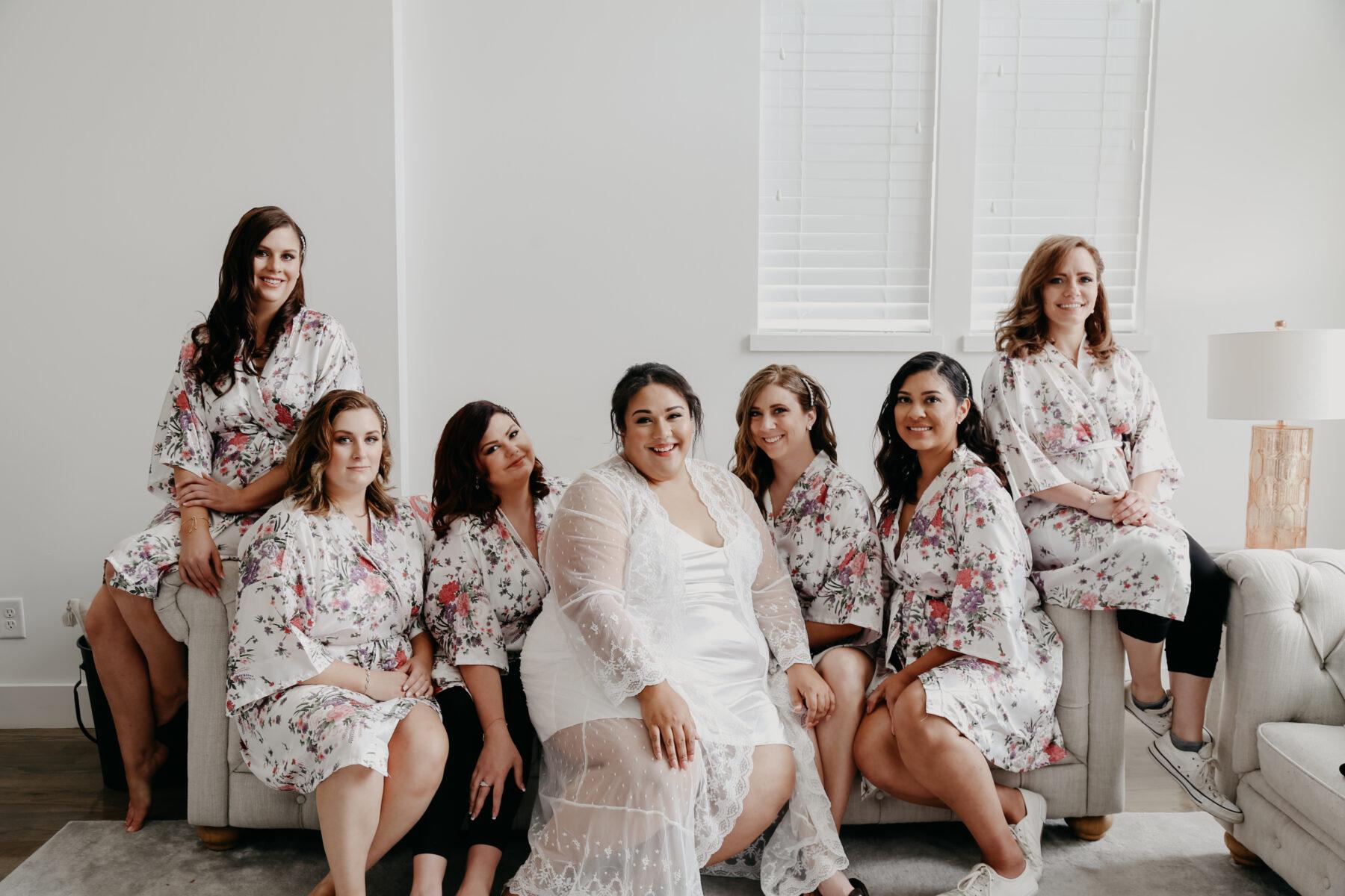 Floral bridal party robes | Nashville Bride Guide