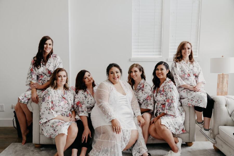 Floral bridal party robes   Nashville Bride Guide