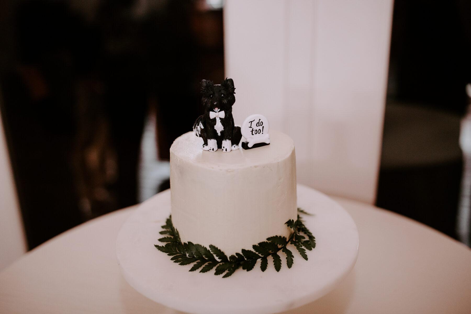 Custom dog wedding cake topper | Nashville Bride Guide