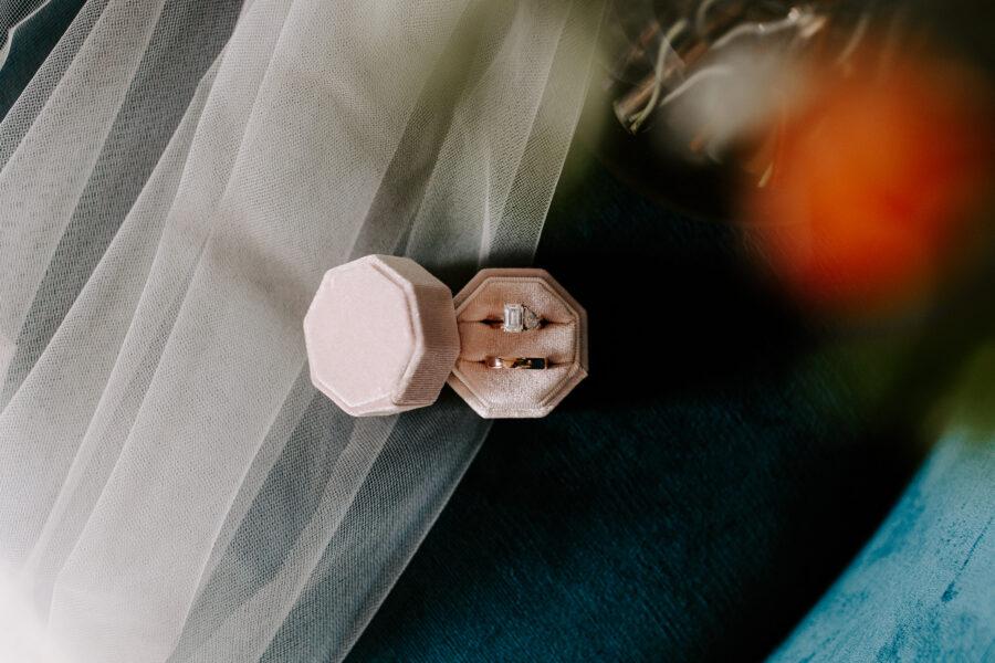 Blush pink velvet wedding ring box   Nashville Bride Guide