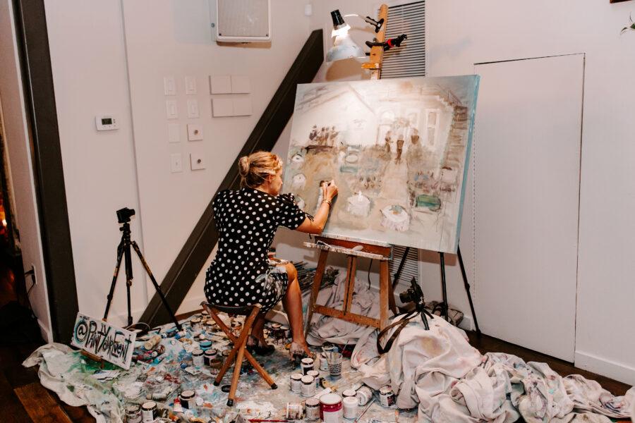 Paint Your Event Live Wedding Painter   Nashville Bride Guide