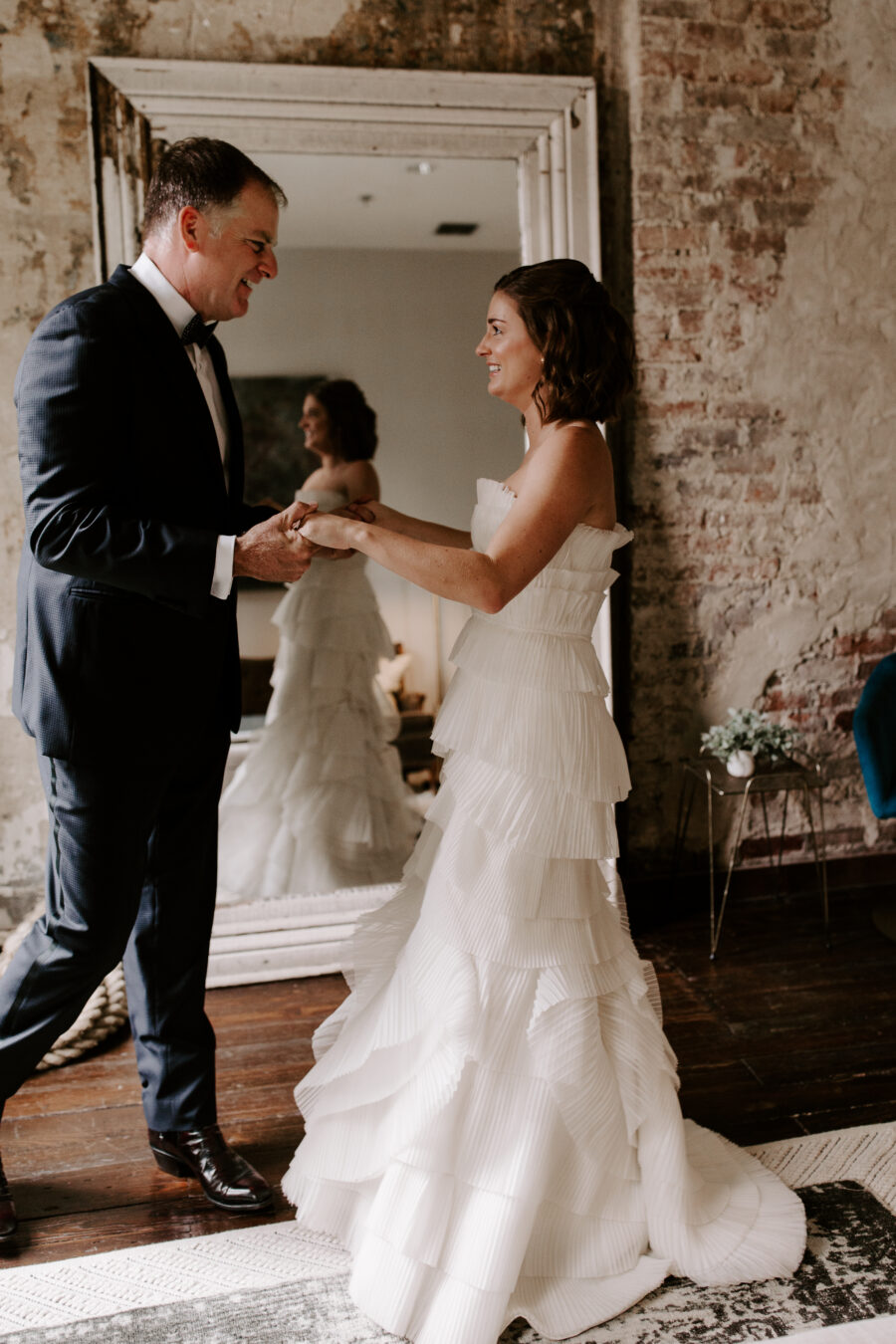 Father of the bride first look   Nashville Bride Guide