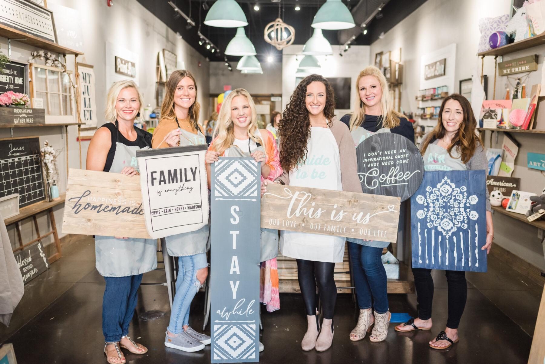 Casey's Bachelorette Party at AR Workshop Mt. Juliet featured on Nashville Bride Guide