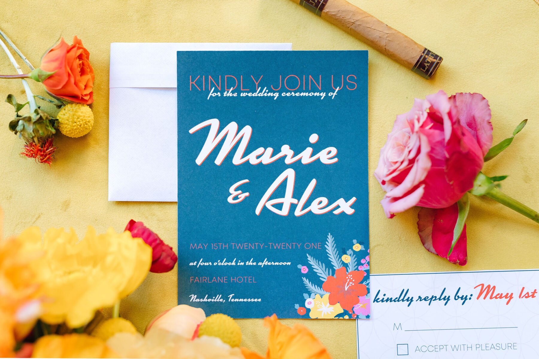 Colorful spring wedding stationery | Nashville Bride Guide