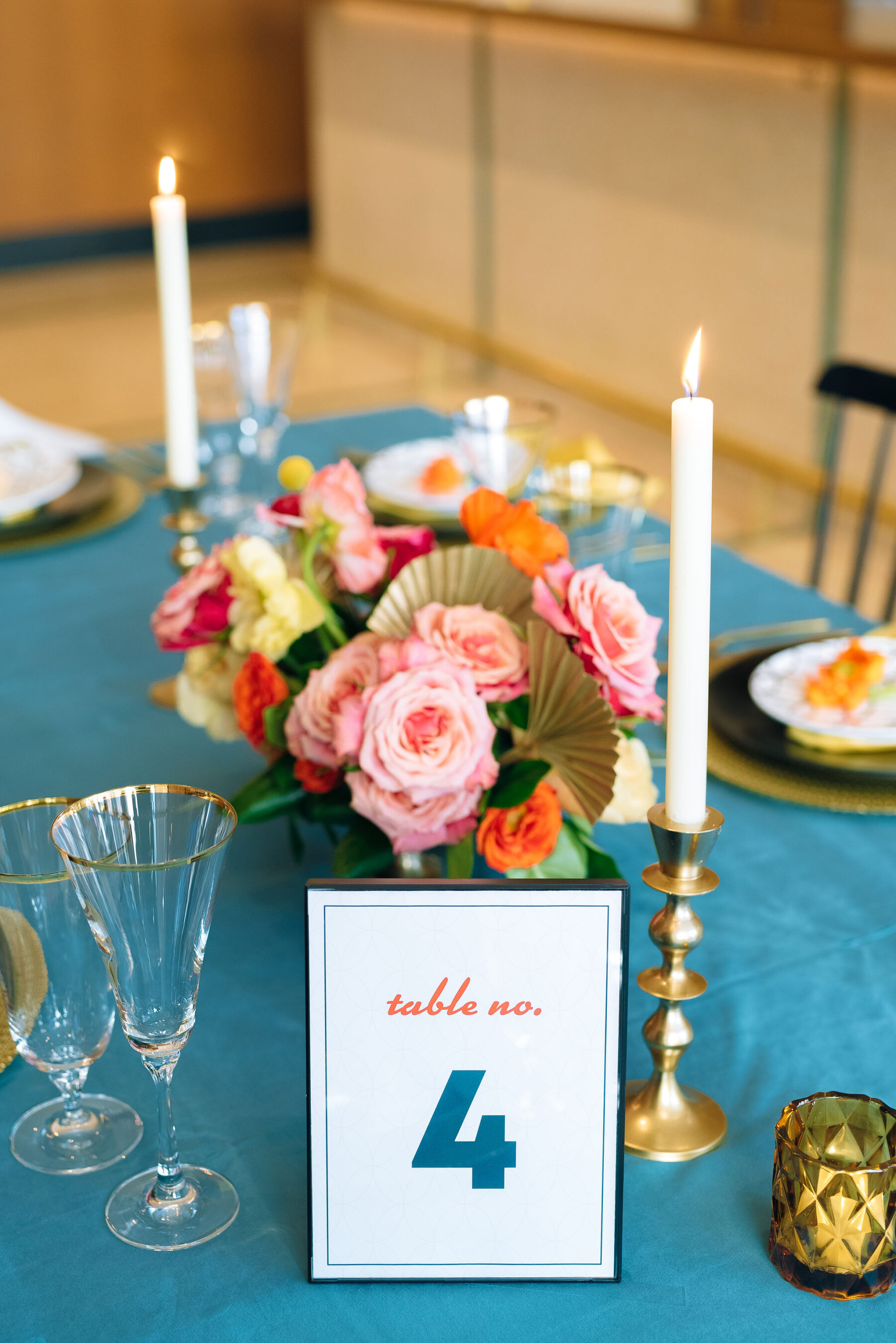 Retro wedding table number designs | Nashville Bride Guide
