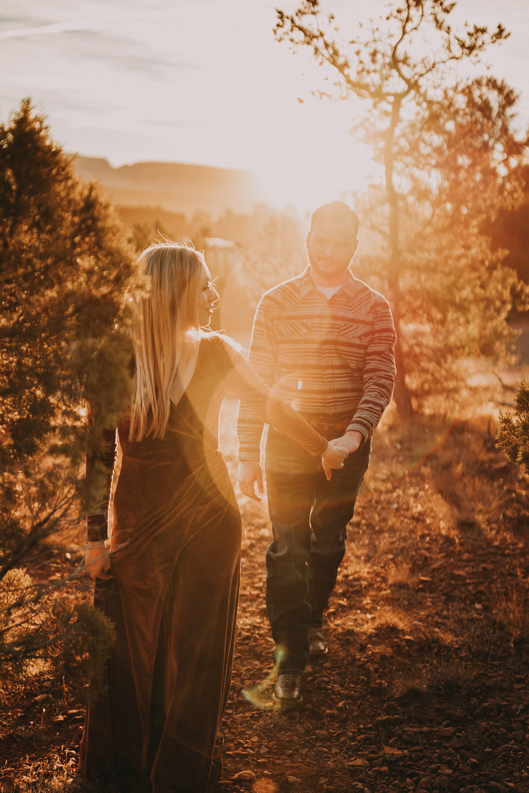 Arizona Cactus Tree Engagement Session by Billie-Shaye Style | Nashville Bride Guide
