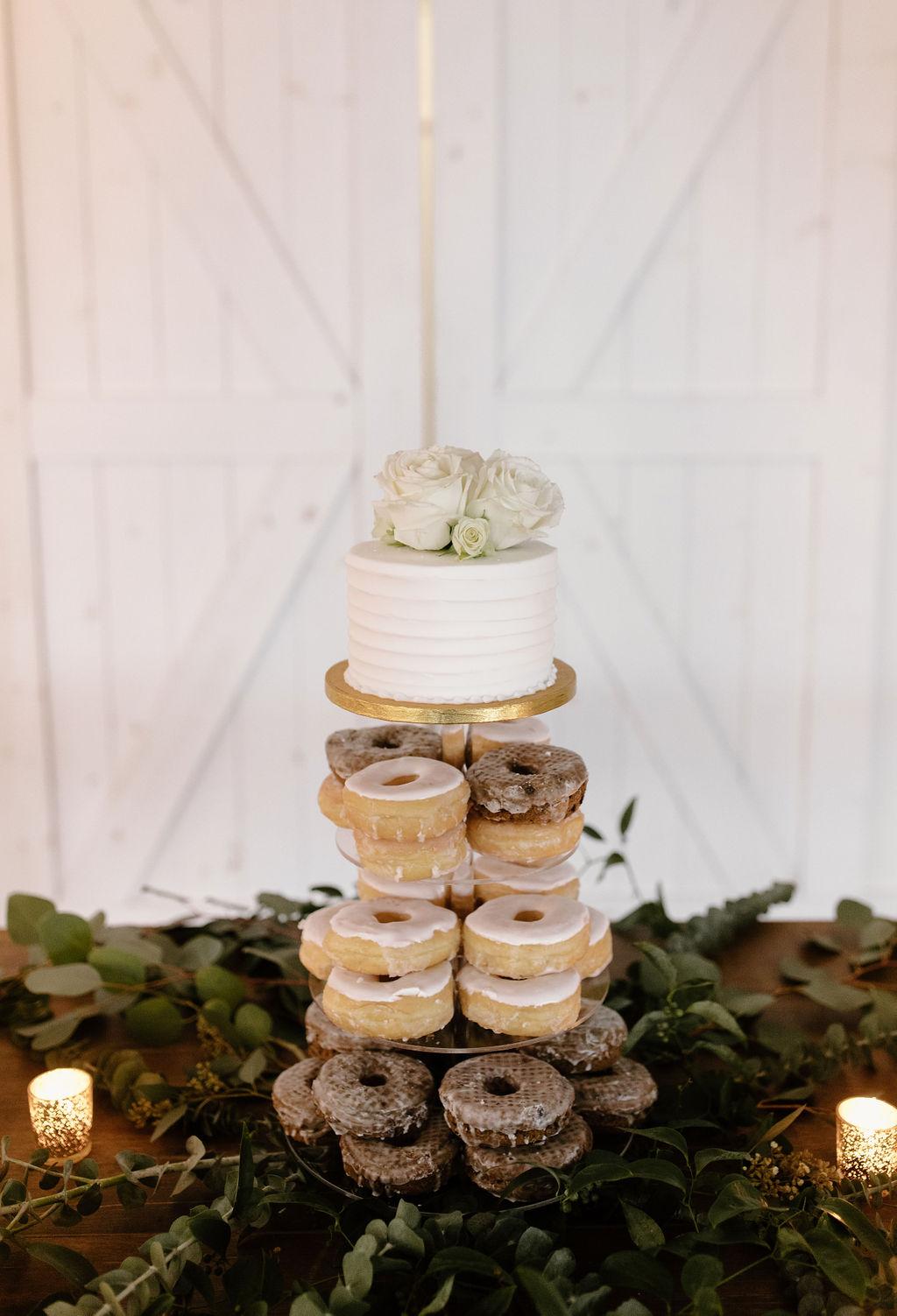 Small wedding cake donut display | Nashville Bride Guide