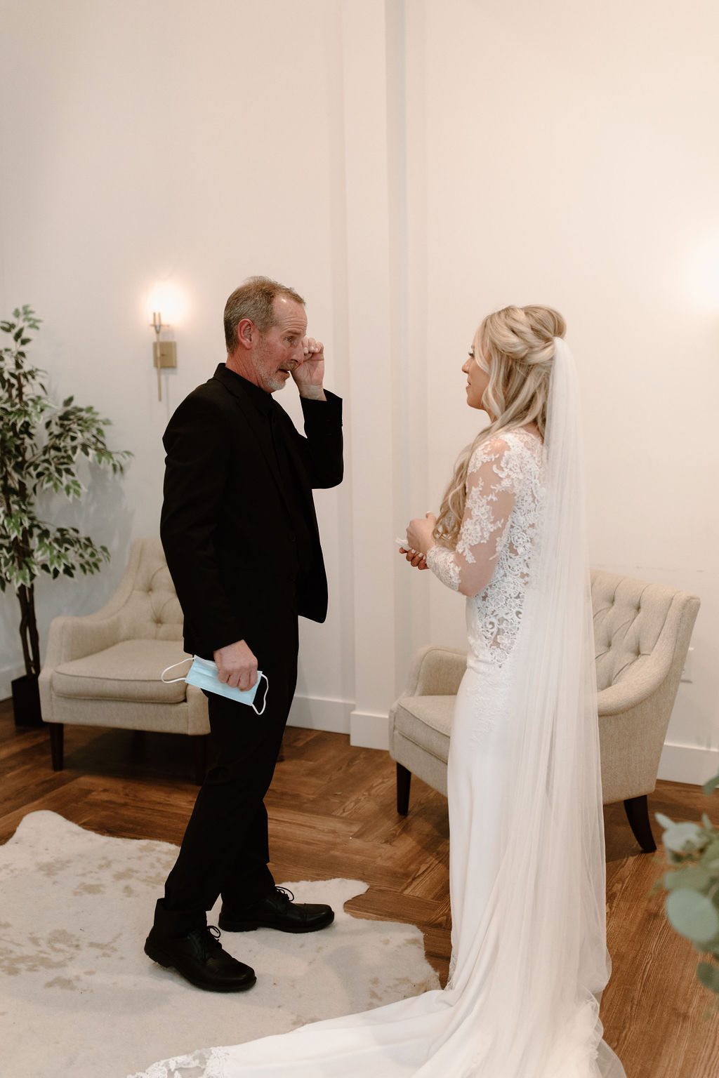 Father Daughter first look | Nashville Bride Guide