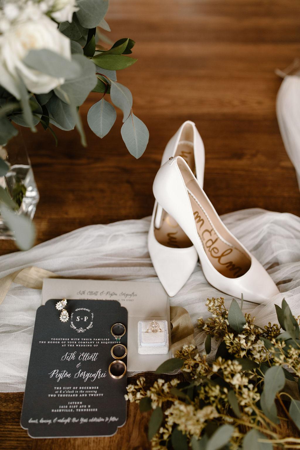 White Sam Edelman wedding shoes | Nashville Bride Guide