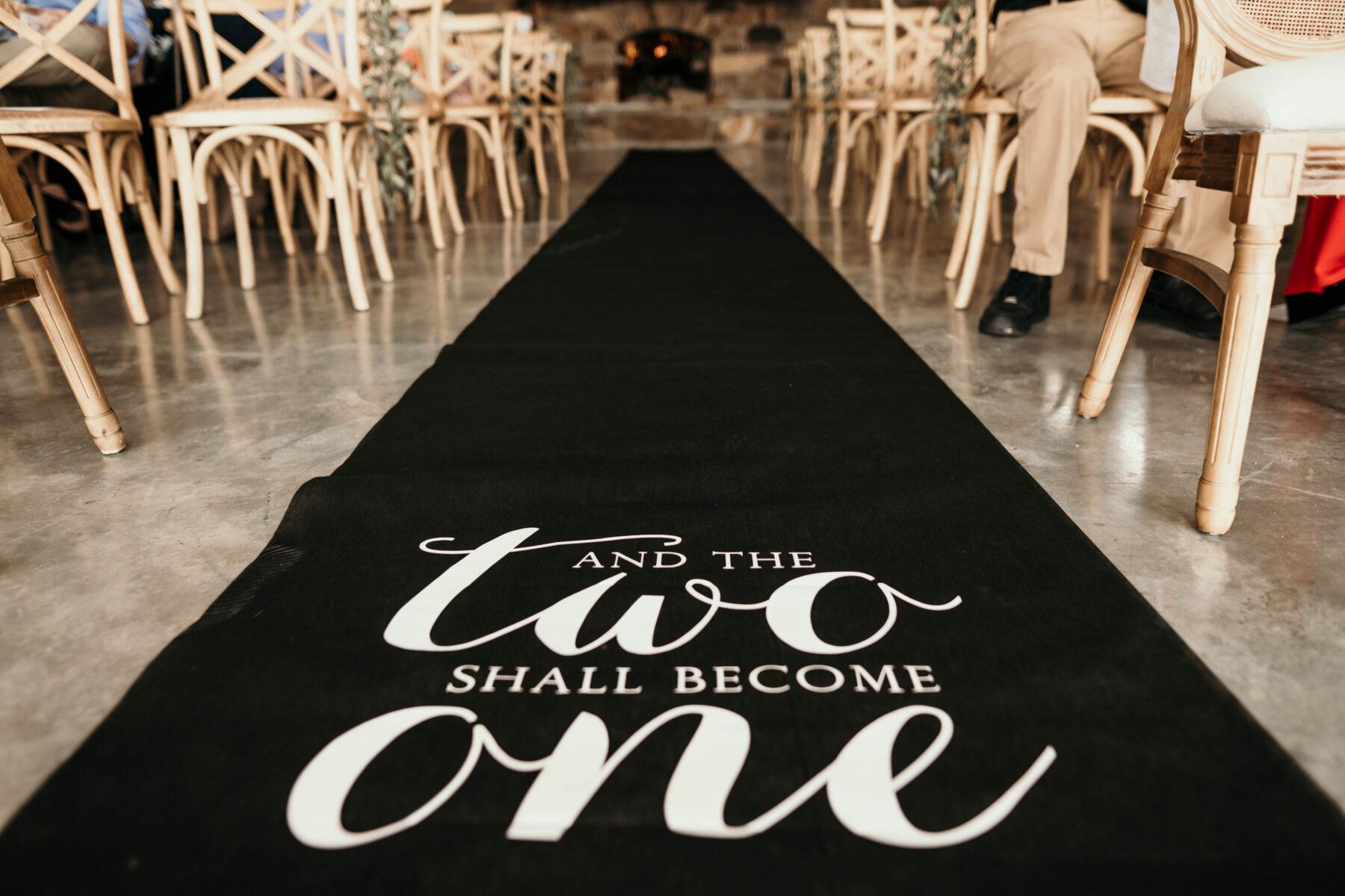 Wedding ceremony aisle runner | Nashville Bride Guide