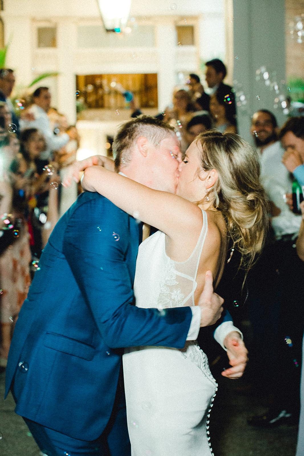Bubbles wedding reception exit | Nashville Bride Guide