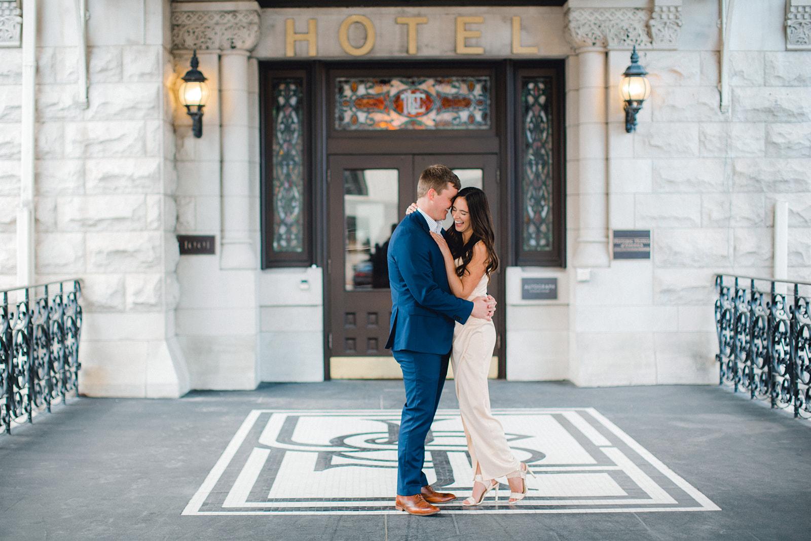 Union Station Engagement Session by Ashton Brooke Photography | Nashville Bride Guide