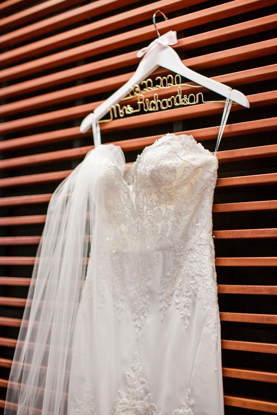 Strapless embroidered wedding dress design | Nashville Bride Guide