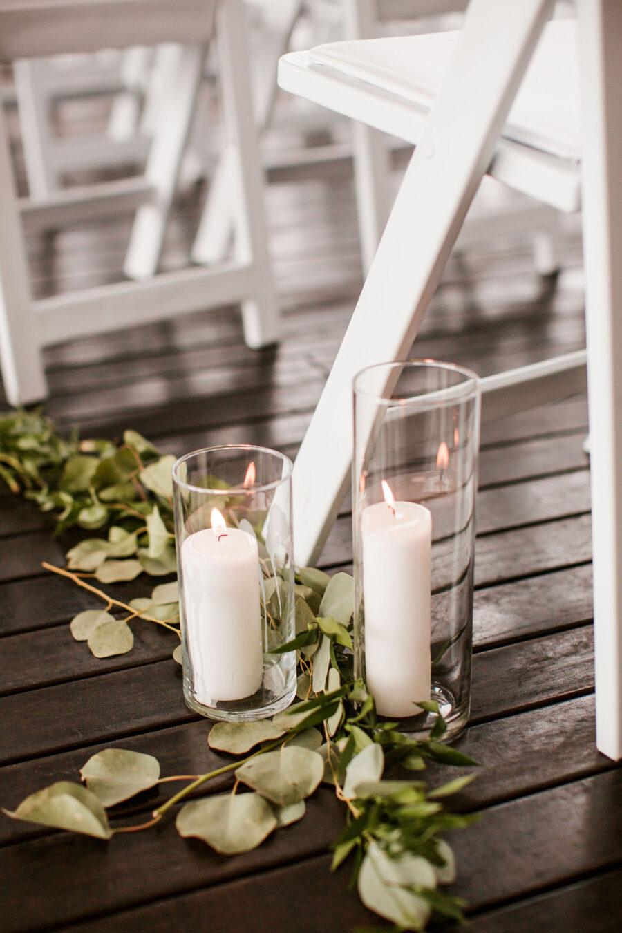 Wedding ceremony decor with candles | Nashville Bride Guide