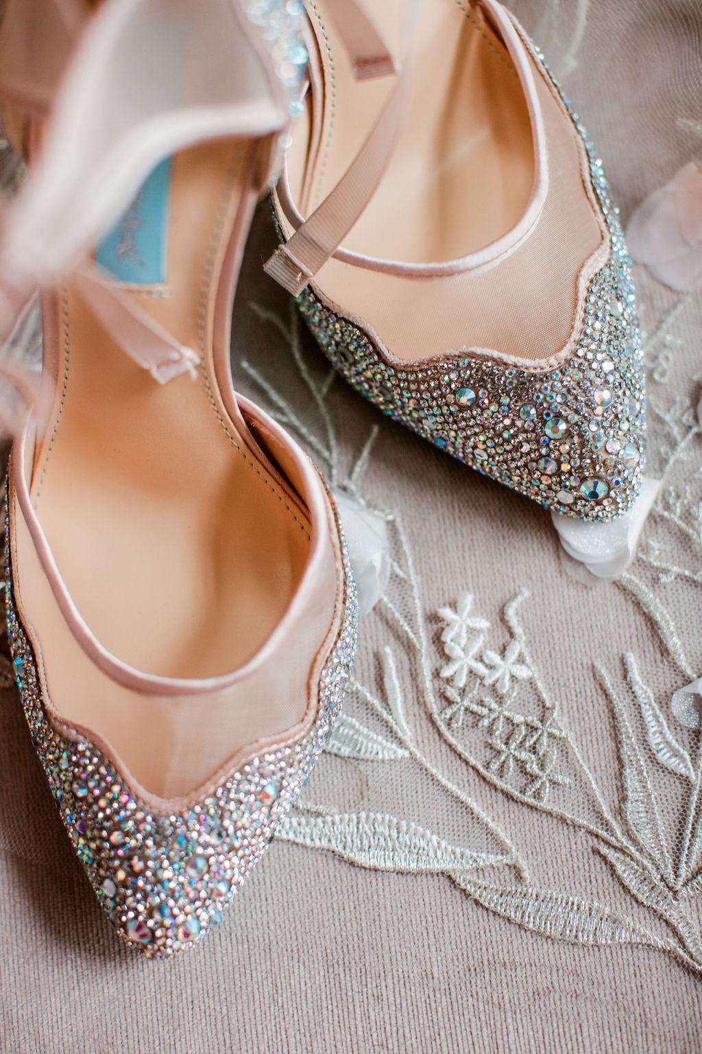 Blush wedding shoes with sparkles | Nashville Bride Guide