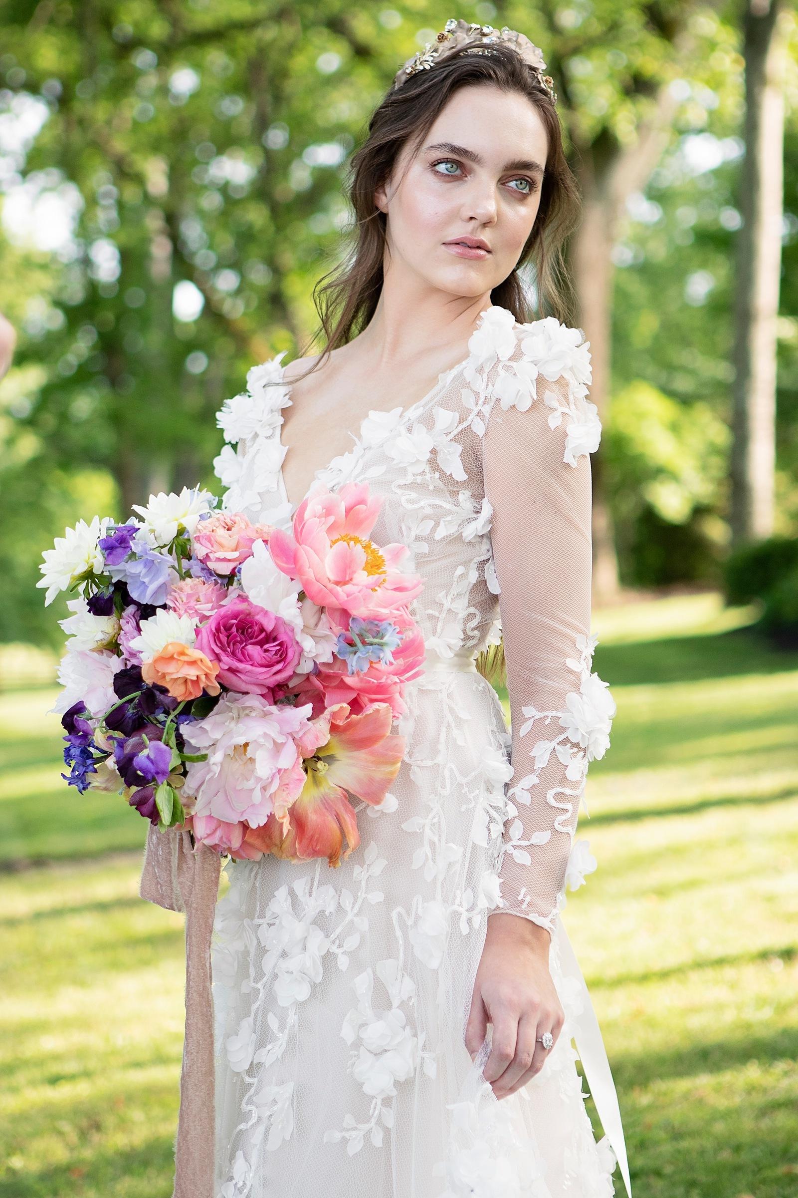 Watercolor wedding bouquet