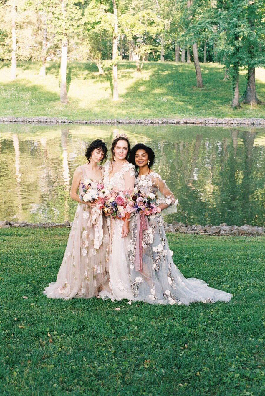 Monet inspired garden wedding