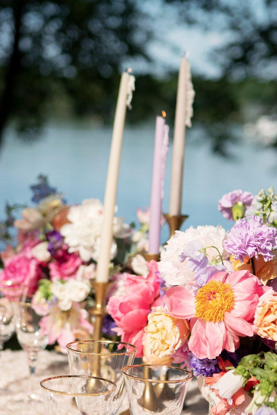 Spring wedding table decor