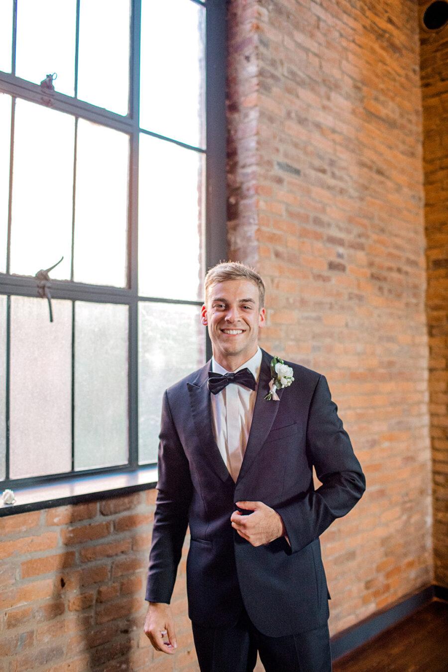 The Black Tux wedding tuxedo with bow tie