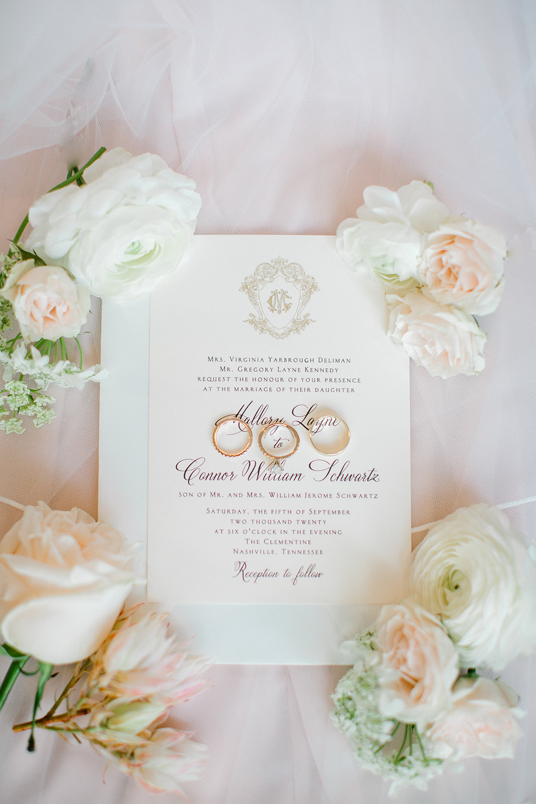Timeless wedding invitation design