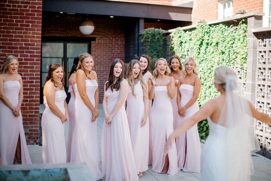 Pink Bella Bridesmaid dresses
