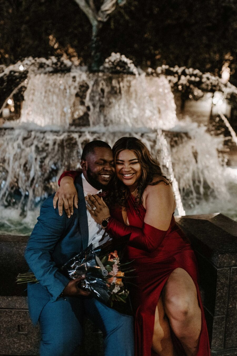 Downtown Nashville Engagement at Symphony Fountain by Meghan Melia Photography | Nashville Bride Guide