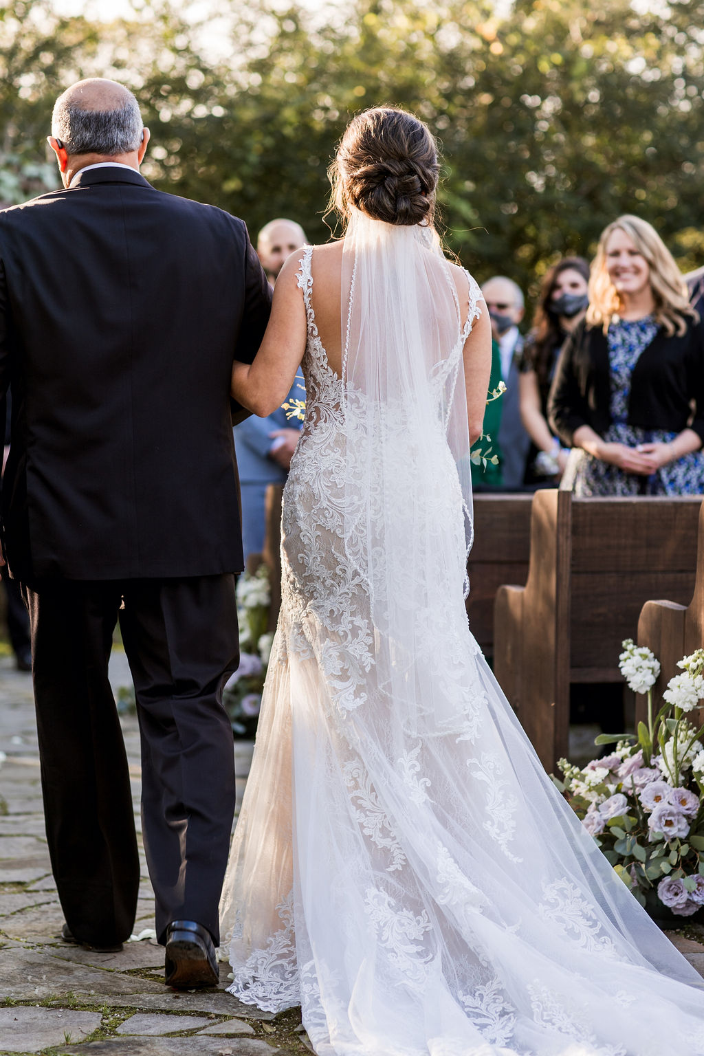 Father of the bride walking down the aisle | Nashville Bride Guide