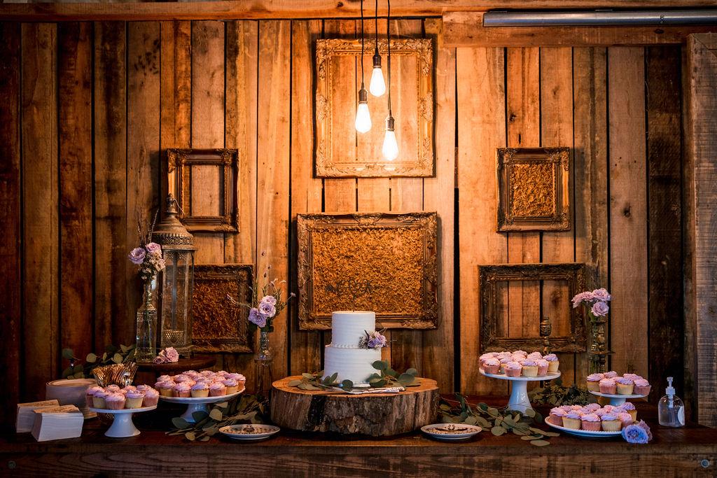 Barn wedding dessert display | Nashville Bride Guide