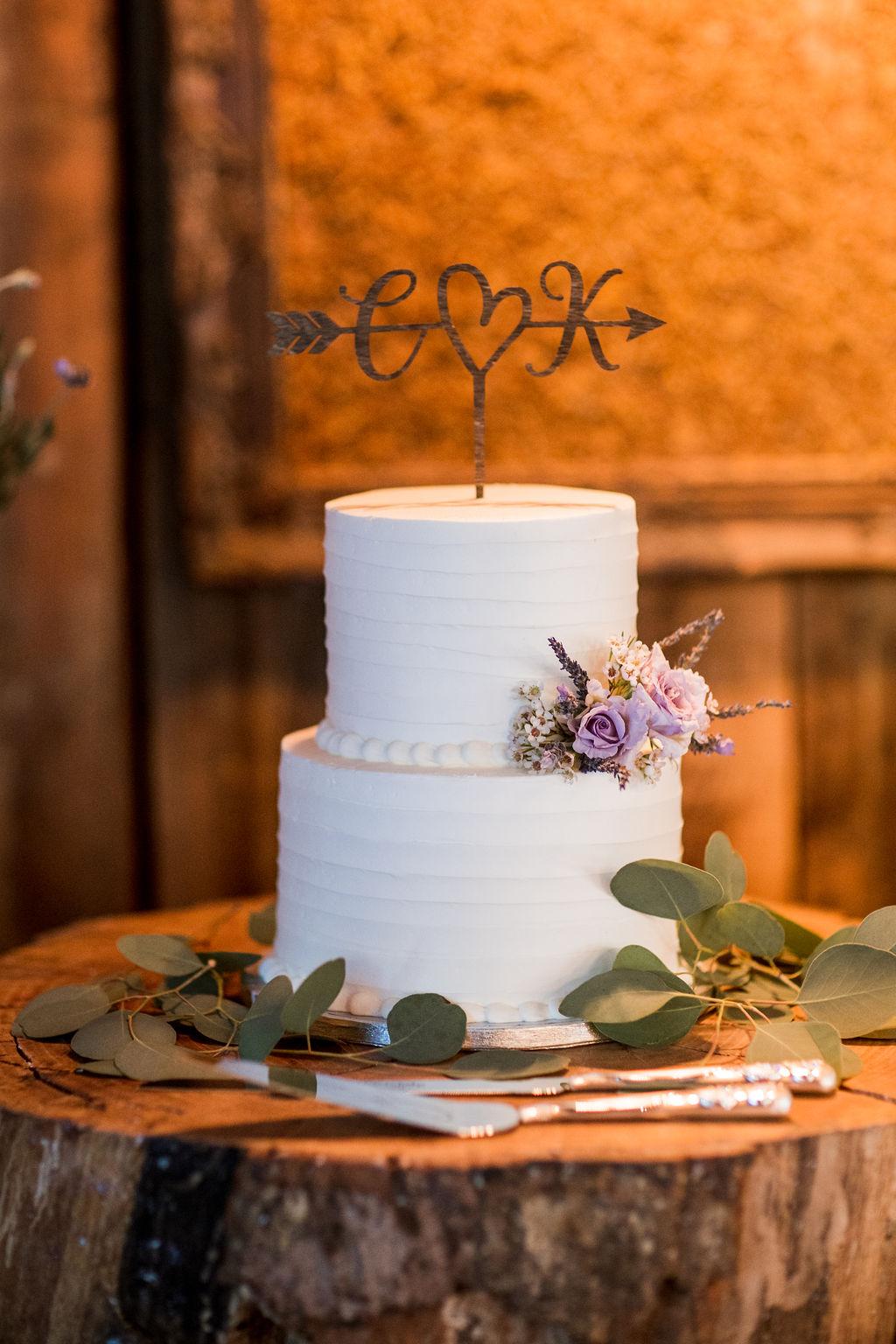 Laser cut wedding cake topper | Nashville Bride Guide