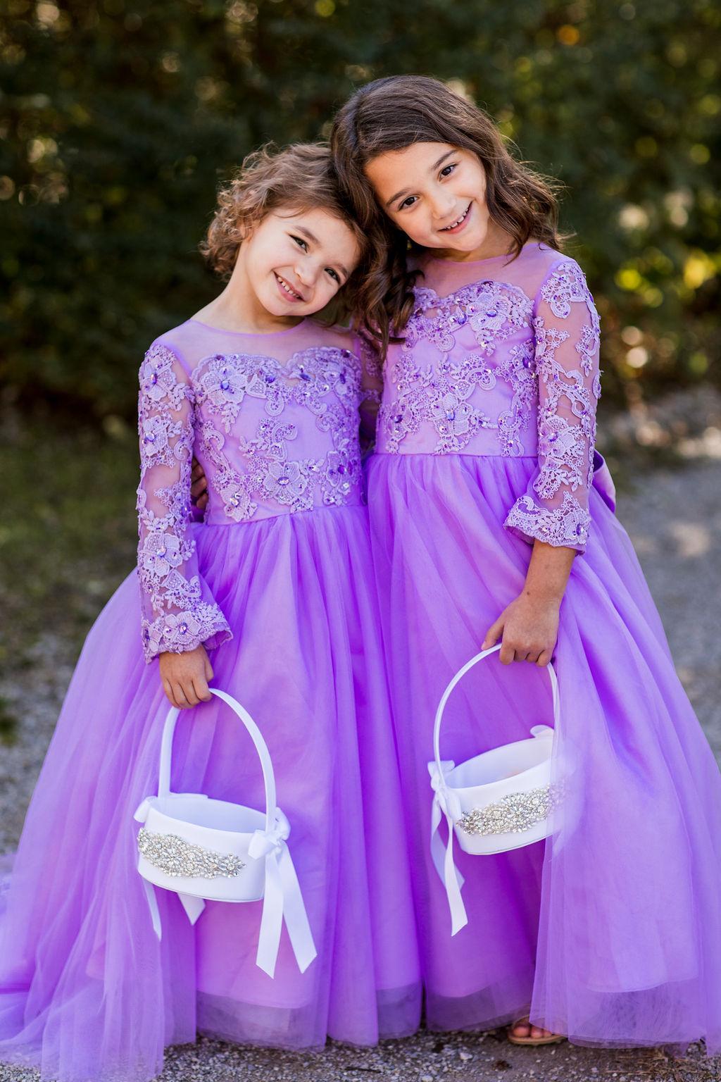 Lavender flower girl dresses | Nashville Bride Guide
