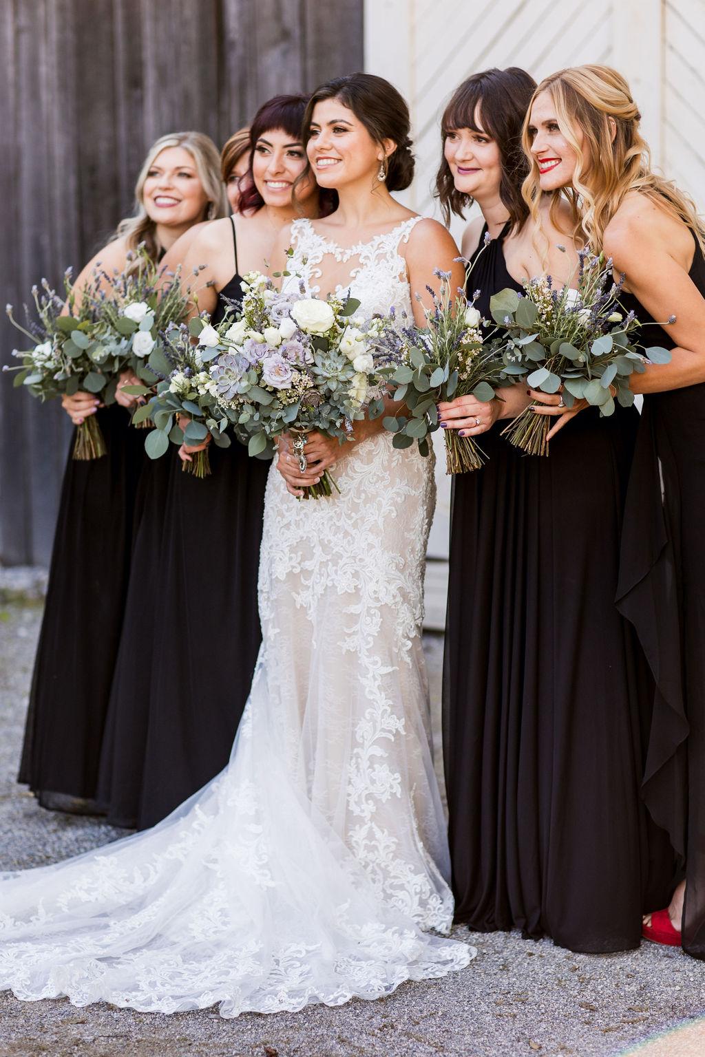 Black bridesmaid dresses | Nashville Bride Guide