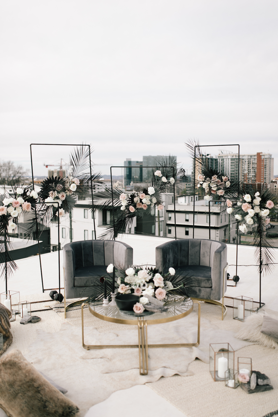 Whimsical Rooftop Wedding Styled Shoot | Nashville Bride Guide
