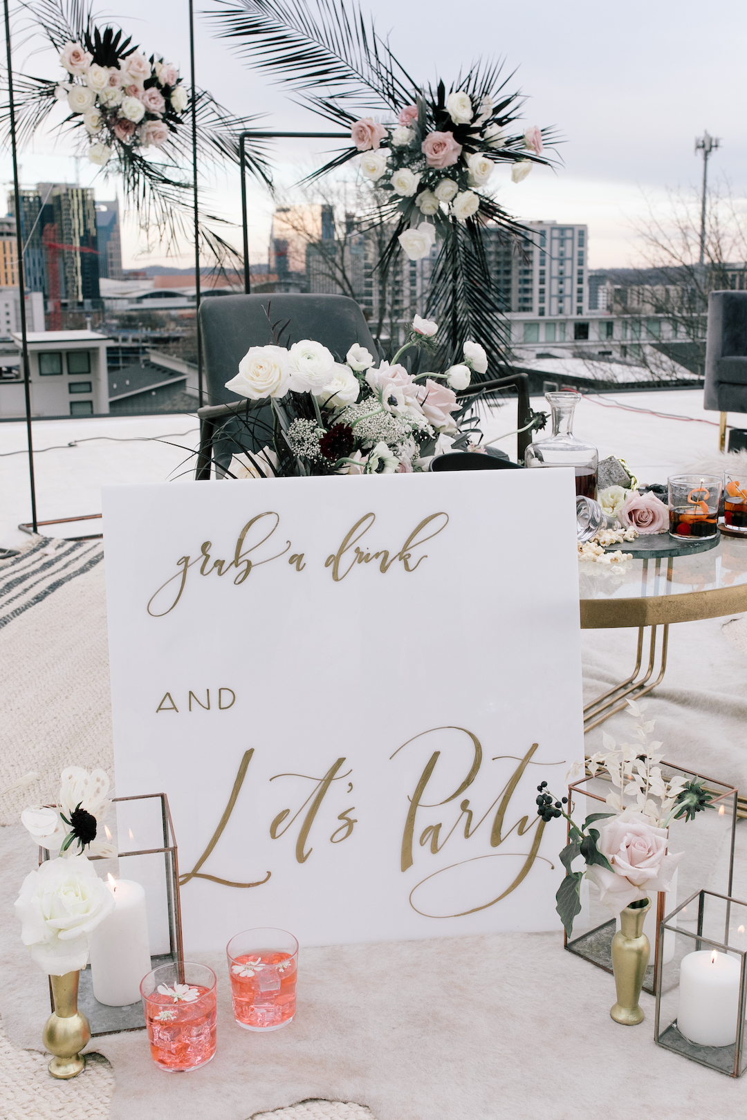 White Ink Calligraphy wedding sign | Nashville Bride Guide