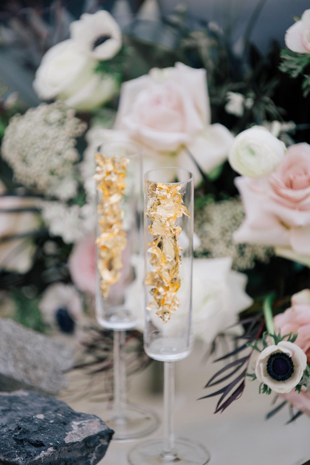 Wedding champagne glass design | Nashville Bride Guide