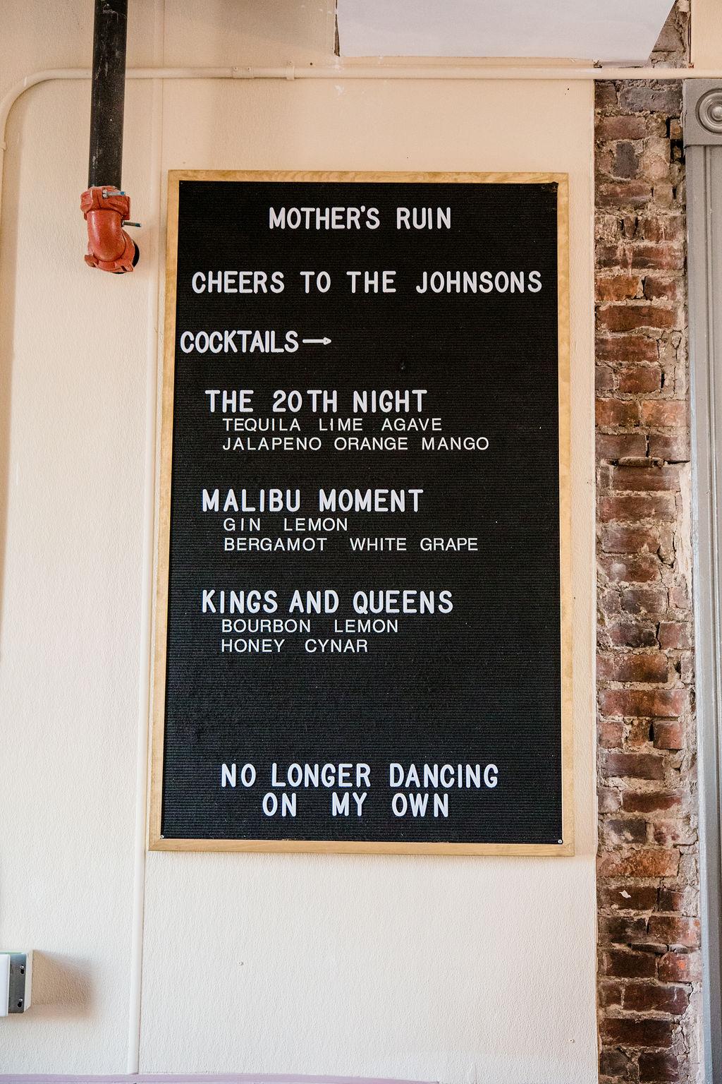 Mother's Ruin Nashville wedding after party | Nashville Bride Guide
