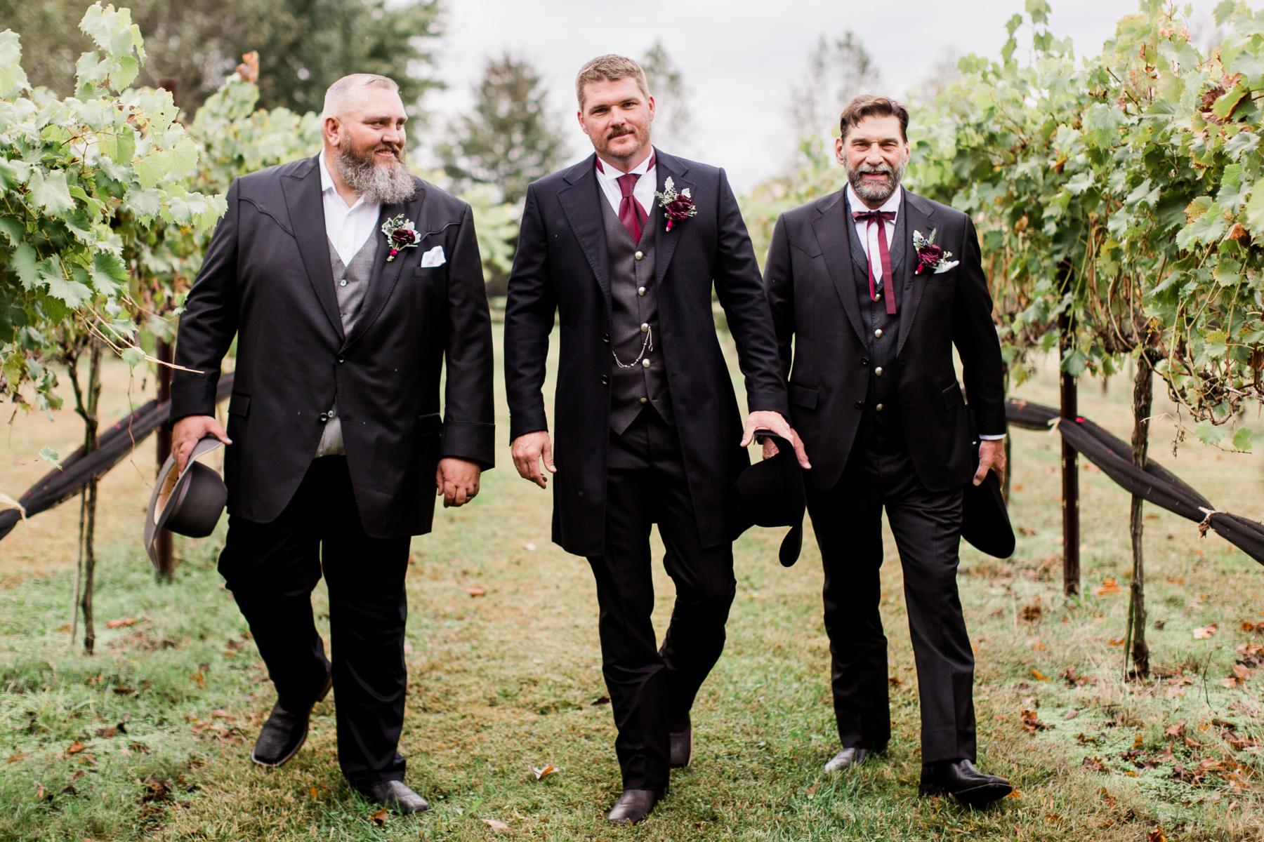 Groom and groomsmen wedding attire