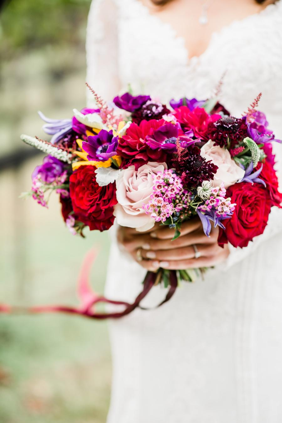 Cottonwood Floral wedding bouquet