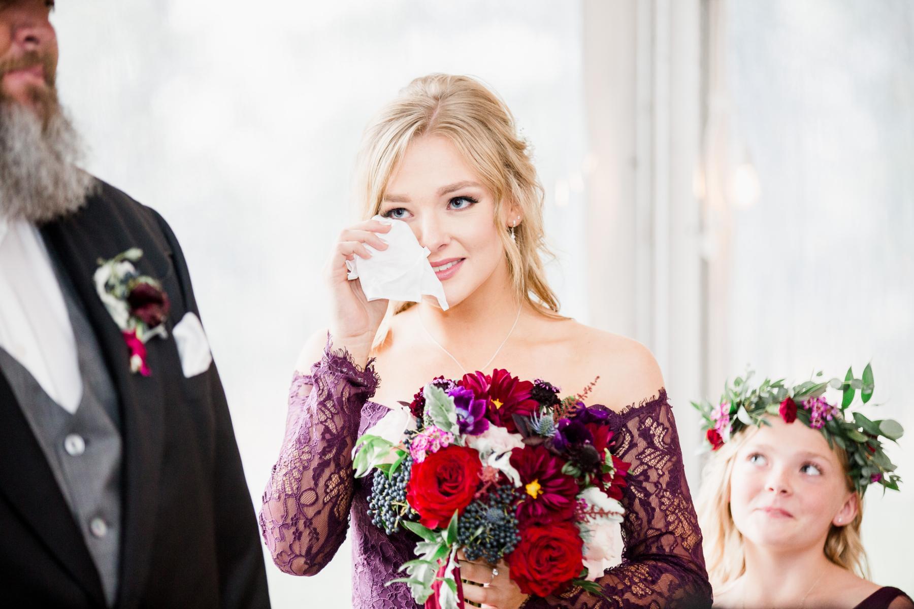 Jewel tone bridesmaid bouquet