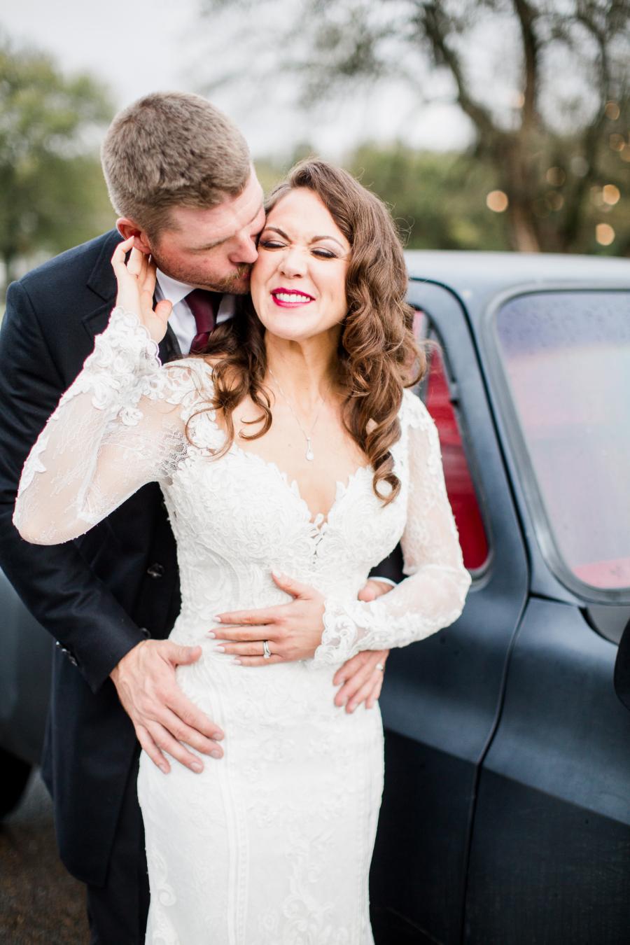 Outdoor wedding portrait