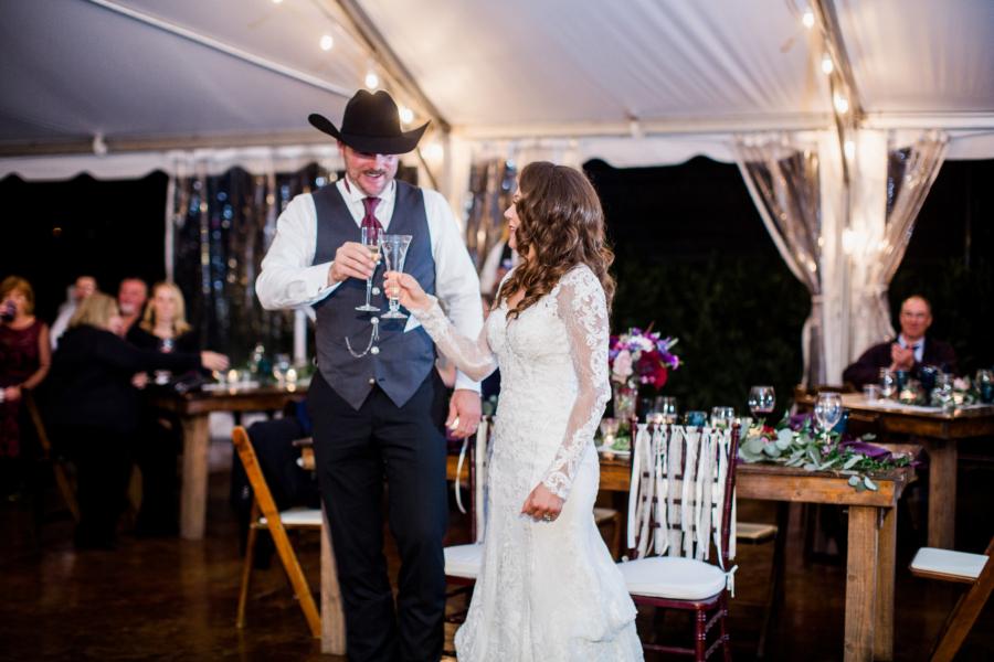 Jewel tone Arrington Vineyards wedding