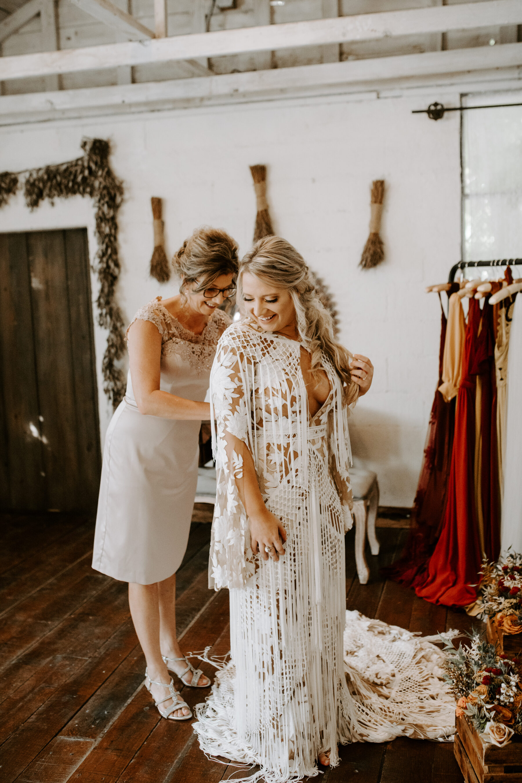 Bohemian wedding dress design