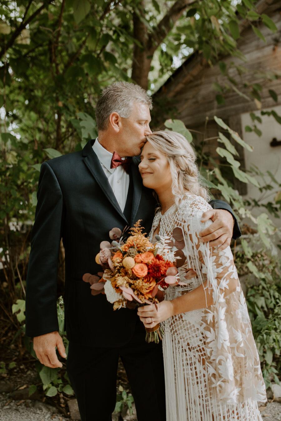 Father daughter wedding portrait