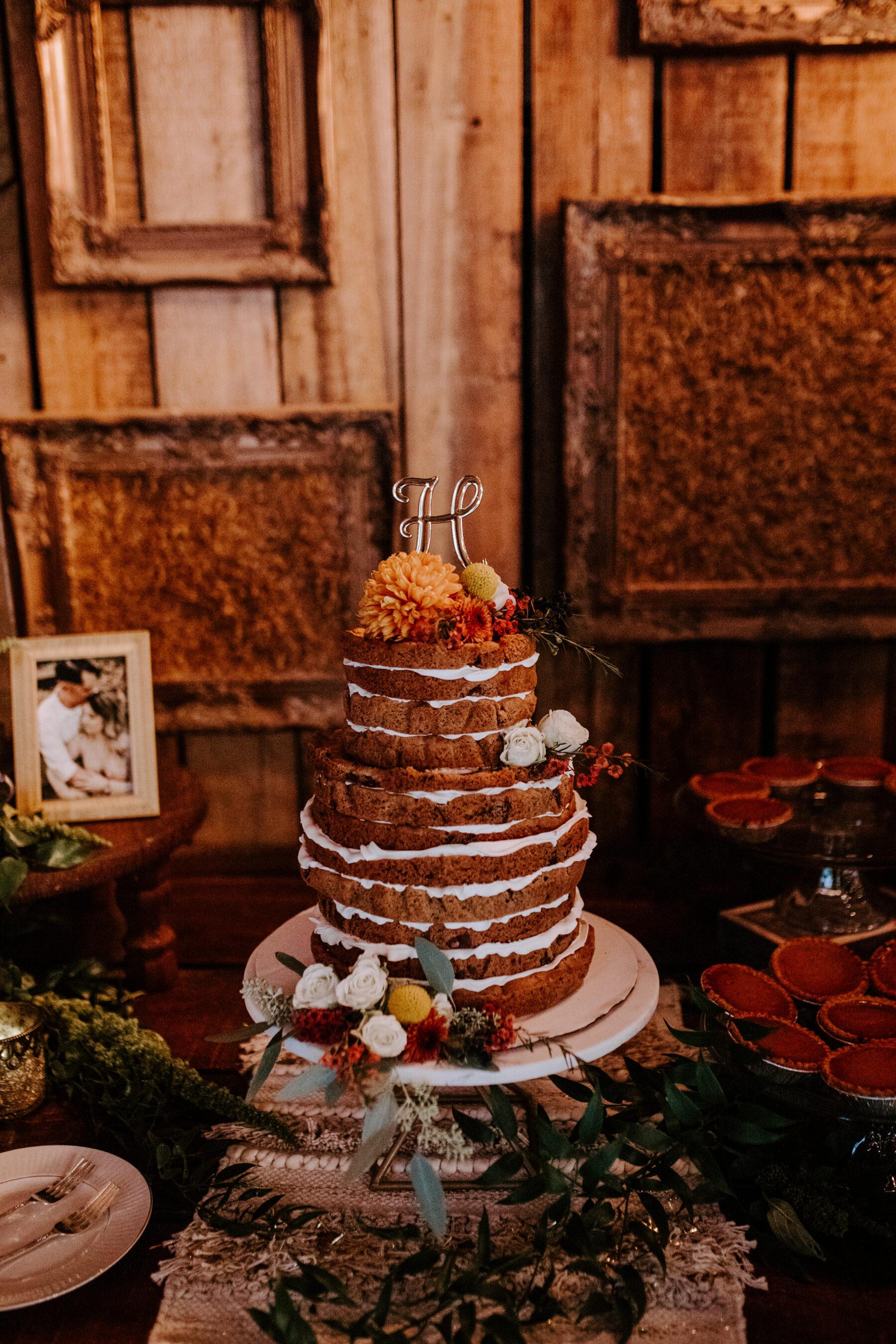 Cookie cake wedding cake design