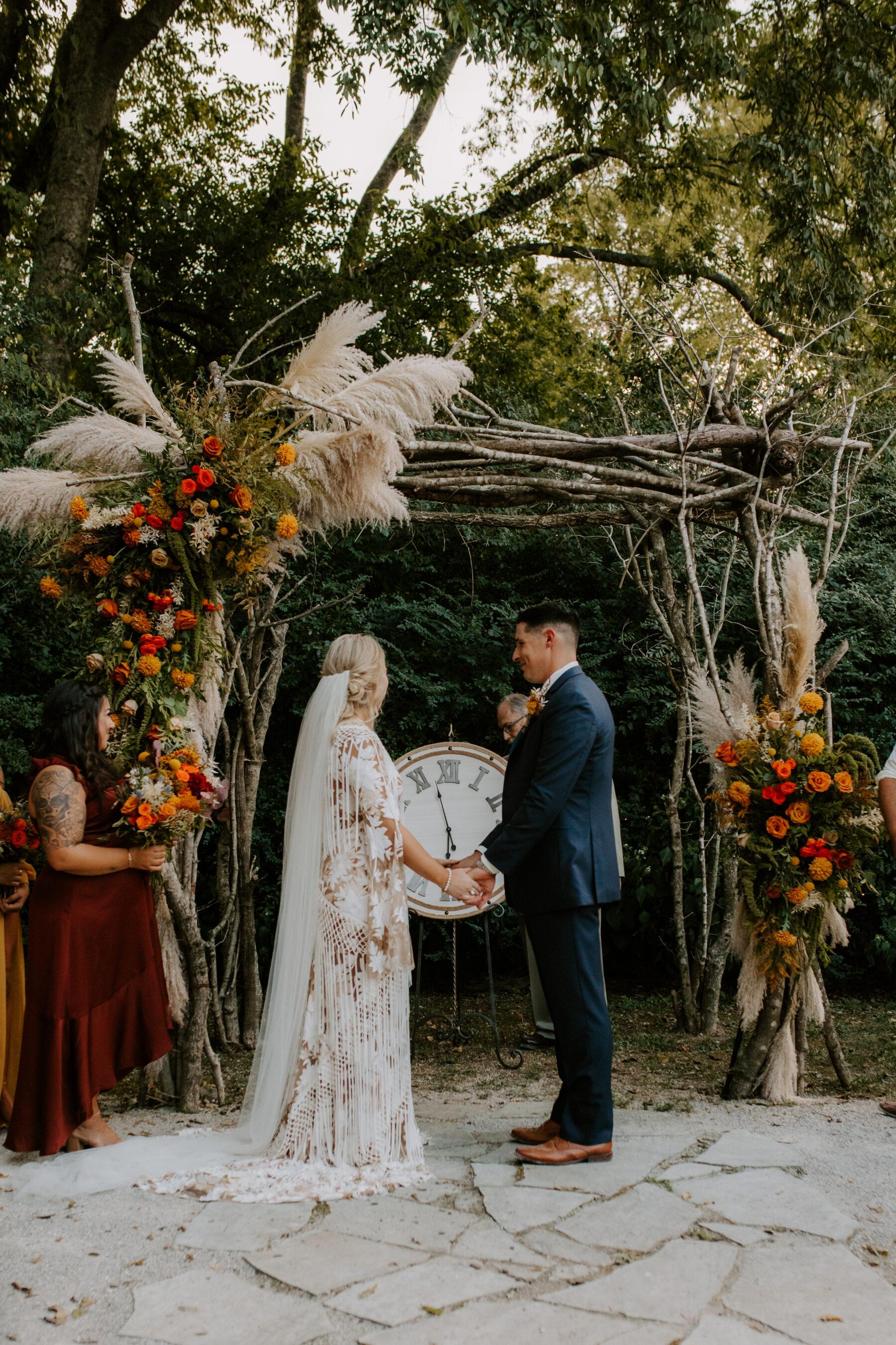 Meadow Hill Farm outdoor wedding ceremony