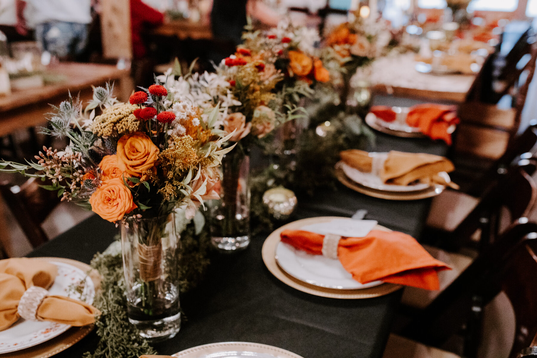 Bohemian wedding table decor