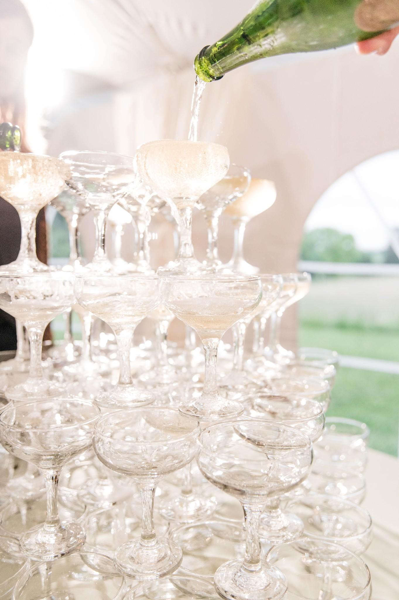 Wedding champagne fountain