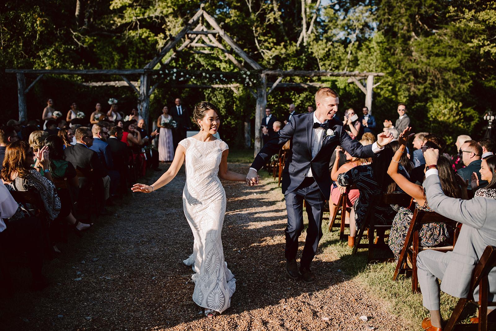 Green Door Gourmet Nashville wedding outdoor ceremony