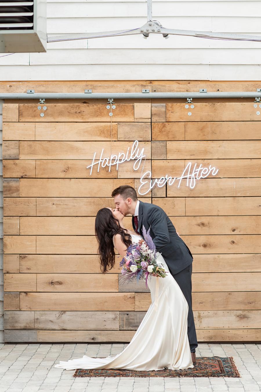 Nash Neon wedding ceremony sign