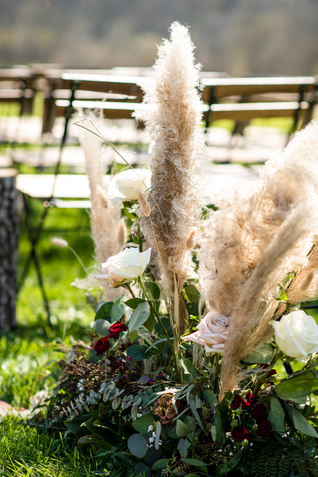 Textured wedding flowers