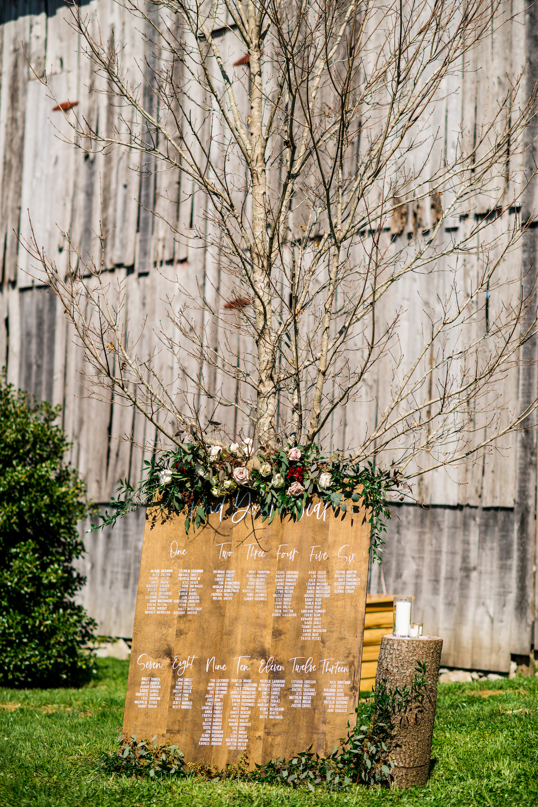 Wedding seating display
